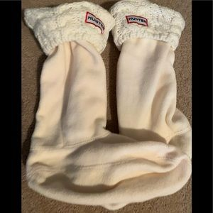Hunter Cable Knit and Fleece Boot Socks youth med